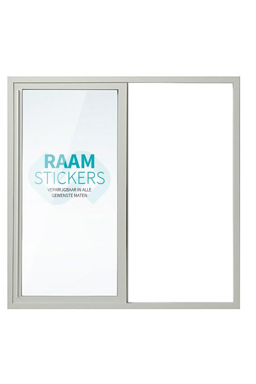 Raamsticker - 3M Clearview wit Double 200% wit