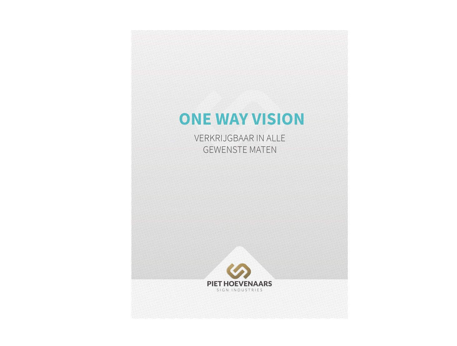 One Way Vision-Binnenzijde raam-One Way Vision dubbelzijdig Triple fc + wit + fc