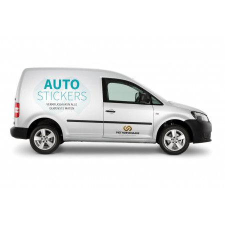 Autostickers - 3M Clearview wit Single 100% wit